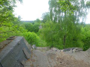 Zburzony most w Kruklankach