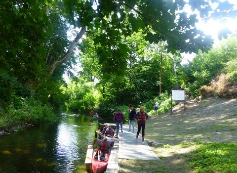 Spływ kajakowy rzeką Sapiną, Kruklanki